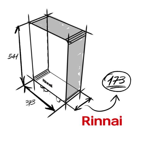 Lo scaldabagno rinnai one da 11 litri per esterno è profondo solo 17 centimetri